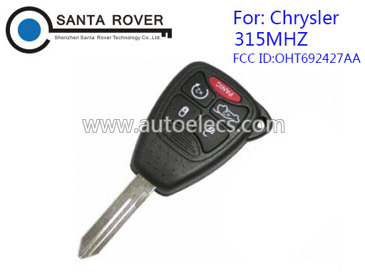 Car key for 4+1button Chrysler 300c Key 315mhz Dodge Jeep Remote Control Key OHT692427AA