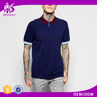 2016 Guangzhou OEM Updated Design 210g 95%Cotton 5%Spendex Short Sleeve Polo Shirt Specification