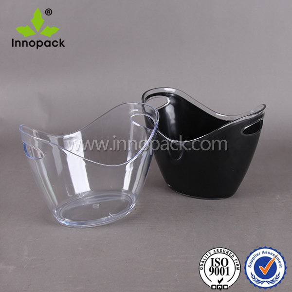 Bottle Wine Champagne Cooler,Oval Plastic 3.5L Bottle Acrylic Ice Bucket