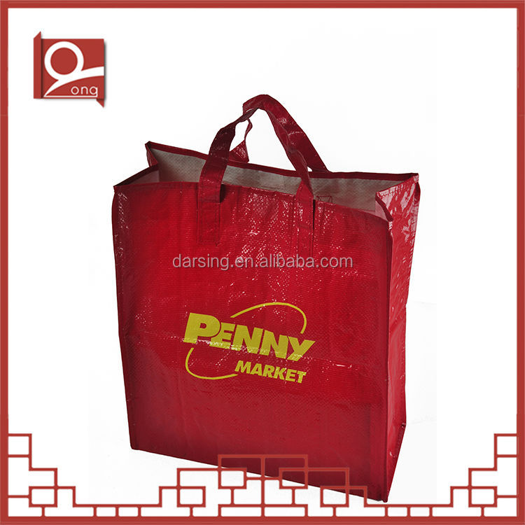 China supplier pp woven laminated shopping bag