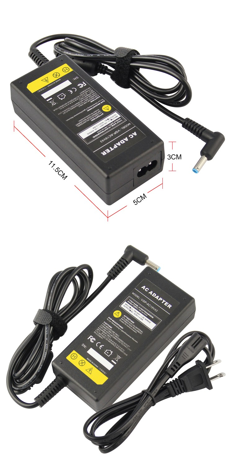 Dongguan USA 65 W 19.5 V 3.33A CE FCC ROHS AC Laptop Adapter Untuk laptop HP Pavilion 15 Series 4.5*3.0 MM Konektor Daya Charger