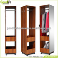 Movable clothes wardrobe hotel furniture with dressing mirror