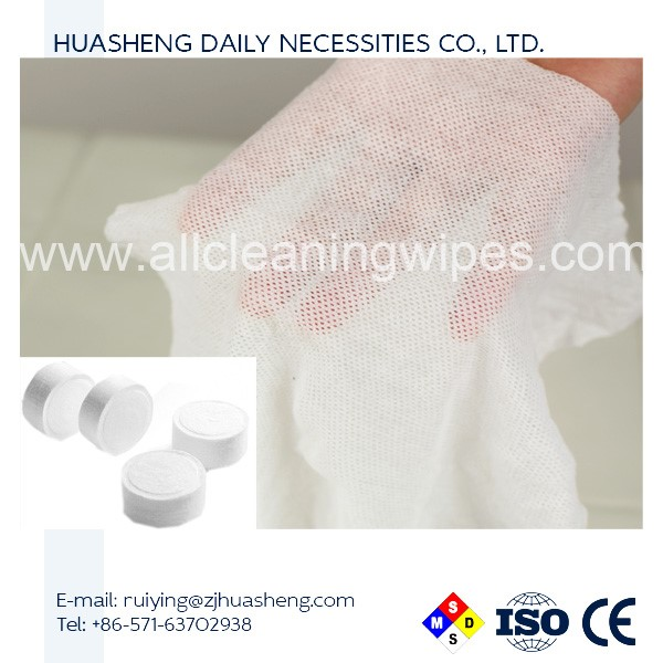 2018 high quality 100% rayon custom compressed towel