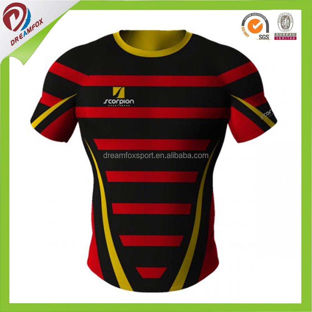 Blank Rugby League Football Jersey/Short Sleeve Rugby Jersey/Rugby Teamwear
