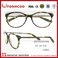 FONHCOO Customed Snake Pattern Plastic Eye Glasses Acetate Optical Frames With Low MOQ
