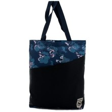 Folding shopping bag with tote