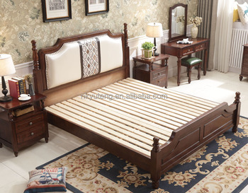 Nankang furniture factory design new American style solid wood bed compared with home care electric bed