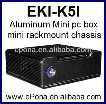 Aluminum Mini pc box, mini pc case, mini rackmount chassis EKI-K5I