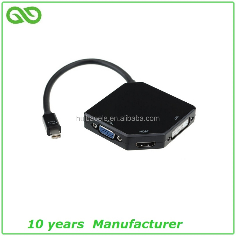 Trending hot products 3 in 1 mini displayport to dvi vga converter