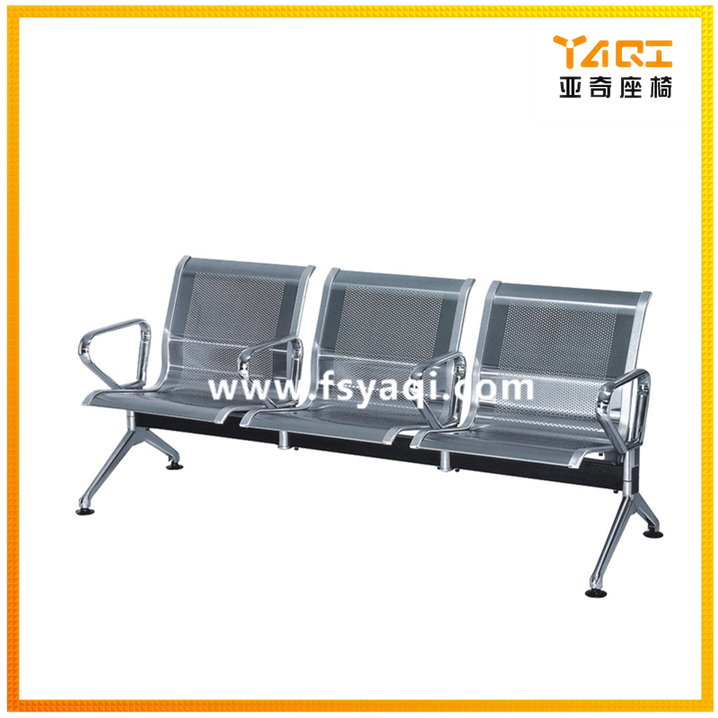 Public 3-seater airport waiting chair with middle arms YA-59