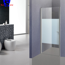 Professional made easy install frameless shower door