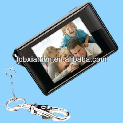 Cheap Black Digital Photo Frame Keychain