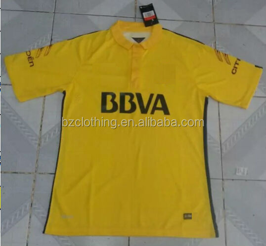 Boca Juniors Yellow Best Thailand Quality Soccer Jerseys