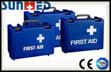 Blue Standard empty first aid kit box