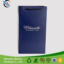 2017 Supplier wholesale custom luxury recyclable packaging paper wine bag