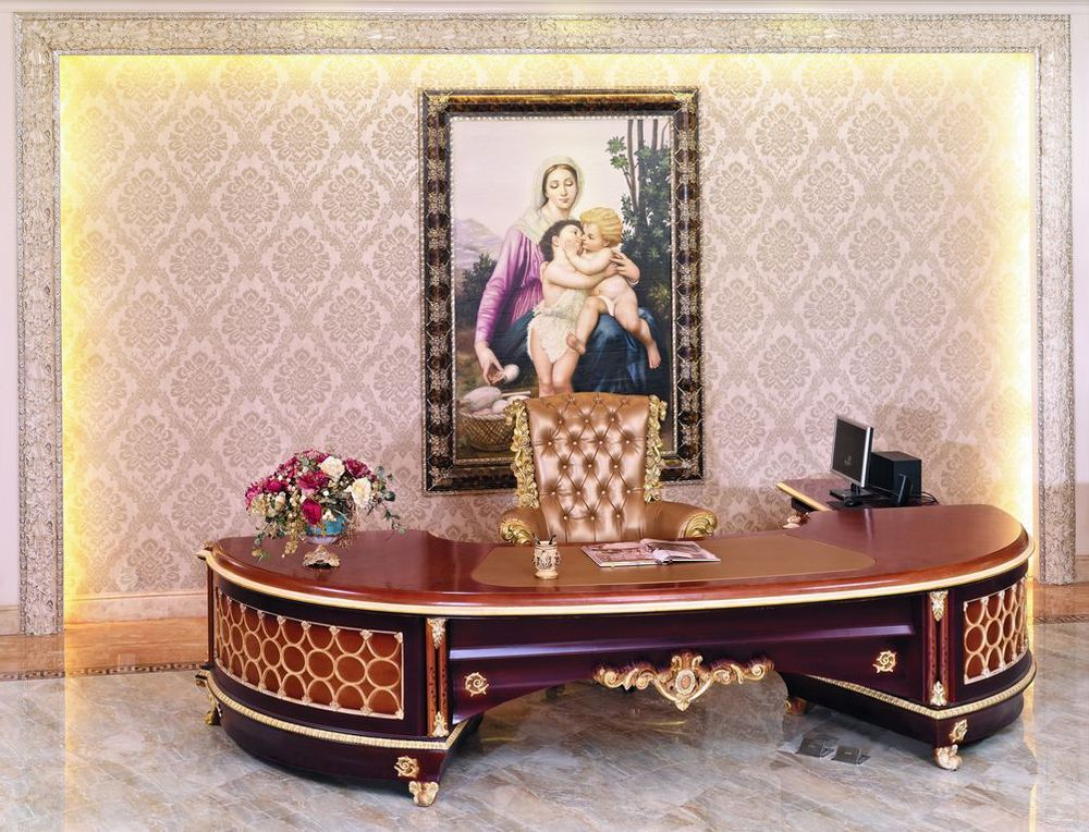 French New Baroque Classic Home Office Furniture Luxury