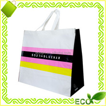 reusable recyclable eco-friendly OEM logo CMYK offet printing bopp lamination promotional take away beach retail shopping bags
