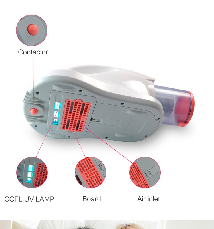 CCFL UV light of UV bed mattress vacuum cleaner to clean on sofa and carpet