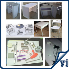 Wholesale trade show booth equipments/ exhibition booth table and chair/ shell scheme equipments