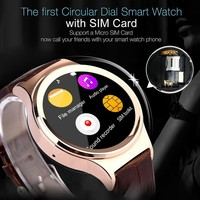 hot sell New T3 Smart watch for android and IOS with Leather Wristband smartwatch for Samsung HTC Huawei LG Xiaomi