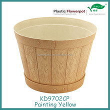 KD9702CP Round plastic round flower pot planter plastic injection molds pot