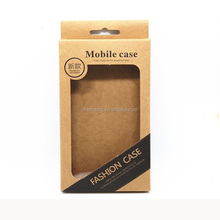 9*15.5*1.5cm Kraft Paper Mobile Phone Case Hang Hole Boxes Cell Phone Packaging Box For iPhone 6S