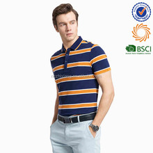 Latest Design T shirt for men stripe polo t-shirts with short sleeve