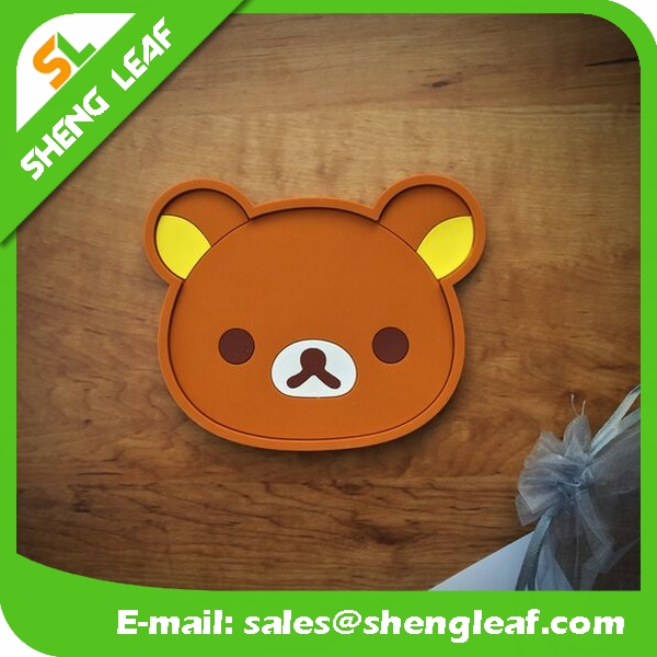 Plastic photo custom recycled rubber plastic 3d coaster cartoon coaster