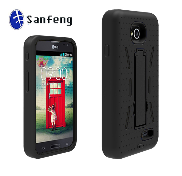 Factory price robot Kickstand shockproof hybrid combo phone cover case for LG L70 hot mobile accessories