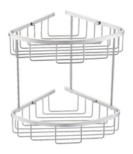 Wall mounted home storage holder and racks metal stainless steel bath wire basket caddy