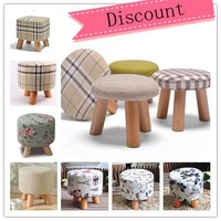 Home funiture student stool 3 legged wooden stool