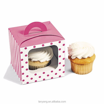 Single Polka Dot Cupcake Boxes Cake Packing For Party Guest