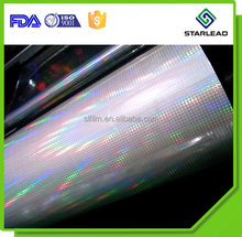 Factory sample offered bopp laser holographic film embossed patterns for selection