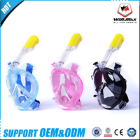 Winmax Brand 2017 Underwater Diving Mask Snorkel Set Swimming Training Scuba full face snorkeling mask Anti Fog For Gopro