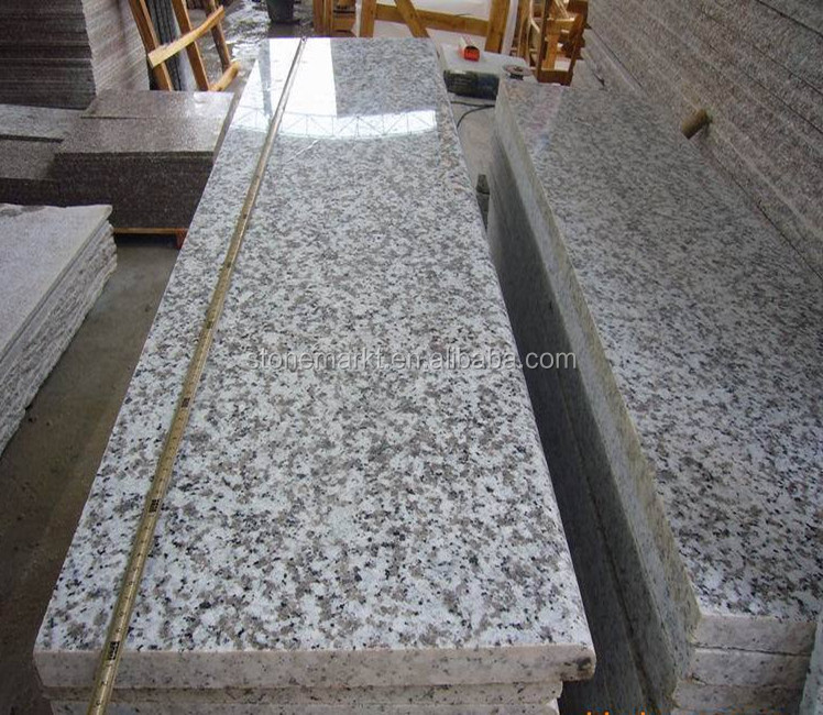 China G439 White Pearl Granite Stairs&Risers Covering Tiles
