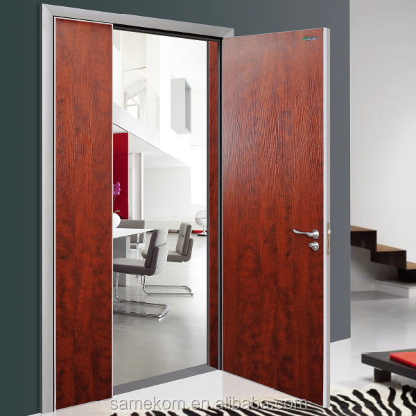 Veneer laminated wood door cheap simple bedroom door for Simple room door design