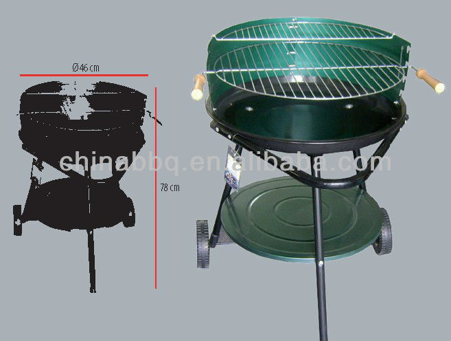 45cm simple series charcoal grill, bbq spit motor