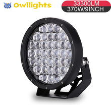 Super High Power 5D Lens 9inch LED Work Light Car Accessories 370w Driving Lights