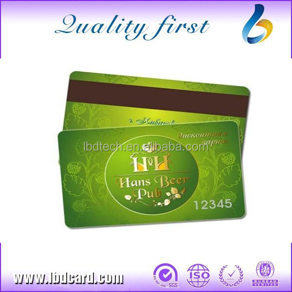 LBD Full color Printing Ntag213 Gift Card with Magnetic Stripe