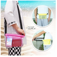 Factory Price PVC Waterproof Waist Pouch with Strap For Swimming /Diving/Sport