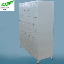 Antique W1370mm 3 tier steel 20 door gym foot locker shoes locker for sale