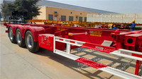Utility vehicle 3 axles container trailer, vehicle sale in south America 3 axles container trailer