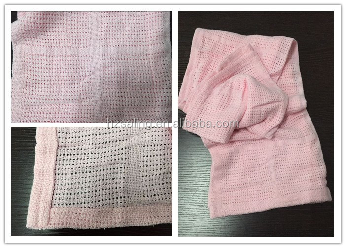 Fashion Cellular Baby Blanket For Pram Soft Pure Cotton 70x90CM Cheap Wholesale UK Market
