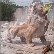 African Jungle stone Lion Statue Home Yard & Garden Decor Products & Sculptured Gifts