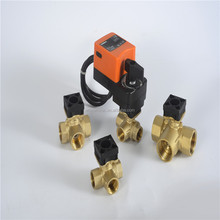 "WVA4-304 12 volt electric water valve flow control valve,3/4"" 3 way 12v electric control ball valve"