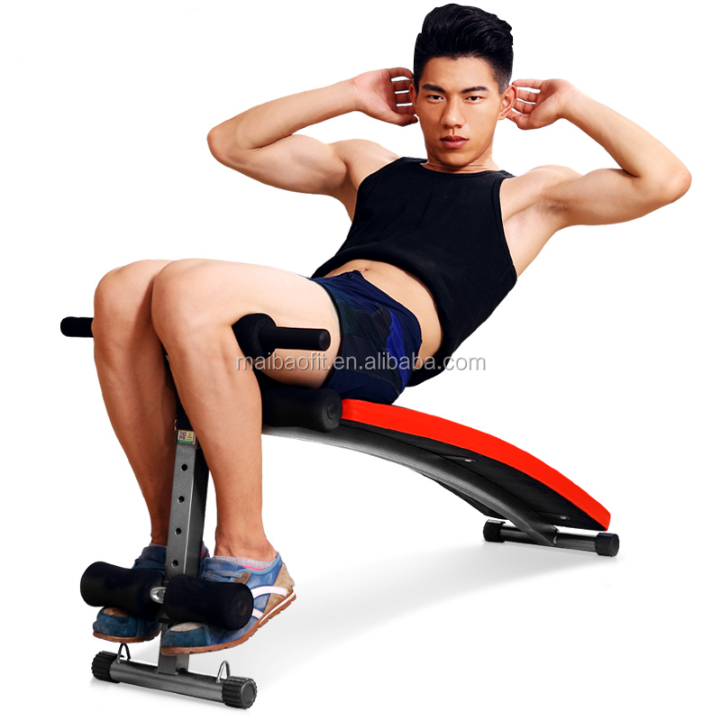 Home Gym BodyBuilding equipment adjustable Curved AB bench/ sit up Bench/incline decline bench