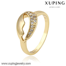 11896 Xuping latest designs gold plated lip shape gold ring for women