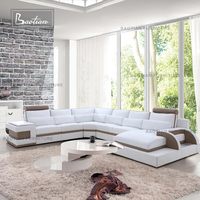 living room furniture leather sectional sofa promotion