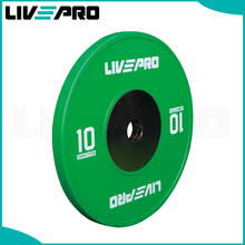 Physical training green bumper plate