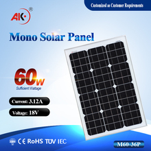 60W 18V photovoltaic cells solar module 60w monocrystalline solar panel with good quality